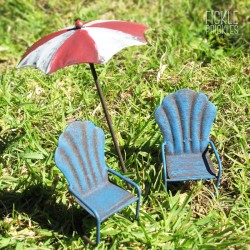 Mini Umbrella and Chairs