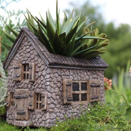 Mini Stone House - Planter