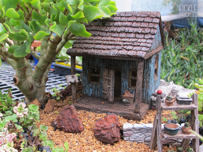 Miniature Garden with Fishing Shack