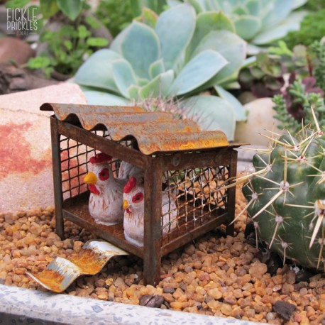 Mini Rusty Chicken Coop