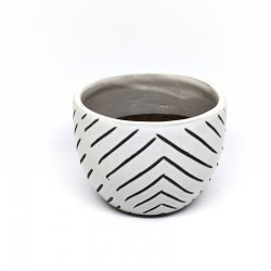 Mini Cup Planter Pot 9cm - Stripes