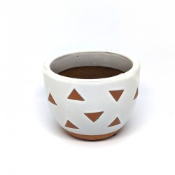 Mini Cup Planter Pot 9cm - Triangles