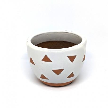 Mini Cup Planter Pot 9cm - Triangles