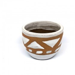 Mini Cup Planter Pot 9cm - Aztec