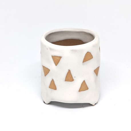 Footed Planter Pot 8cm - Triangles
