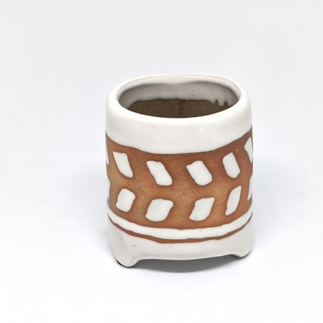 Footed Planter Pot 8cm - Arrows