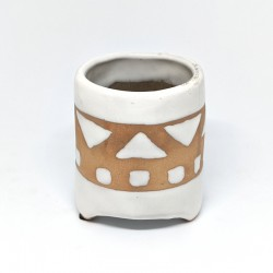 Footed Planter Pot 8cm - Aztec