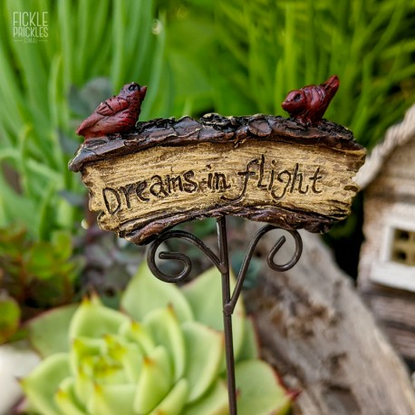 Mini Garden Sign - Dreams in Flight