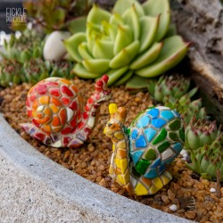Mosaic Snails - Set of 2