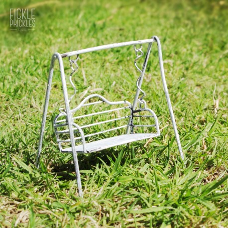 White Mini Swinging Seat