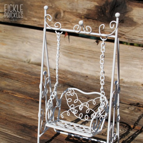 White Victorian Swing Seat