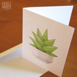 Succulent Greeting Card