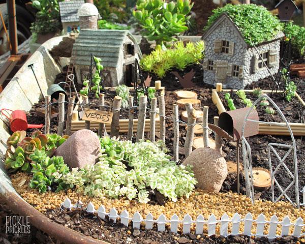 Miniature garden veggie patch