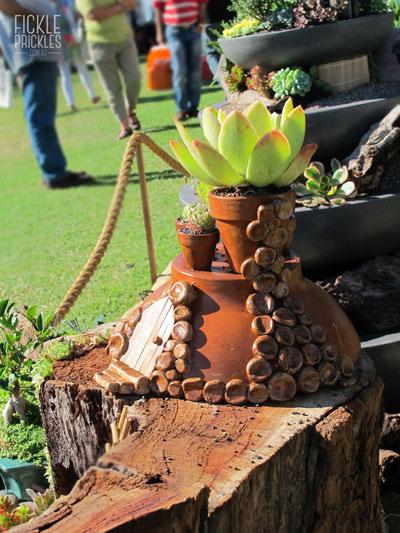 A terracotta hobbit house